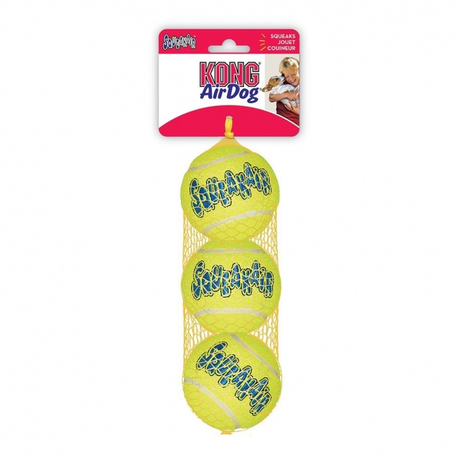 KONG Squeakair tennispallo 3 kpl