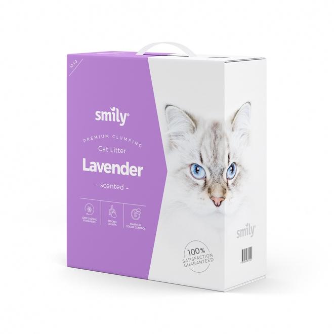 Smily Cat Litter Lavender