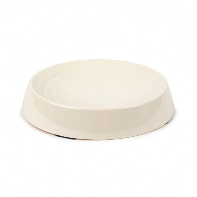 Little&Bigger Melamine Ripple Round Cream