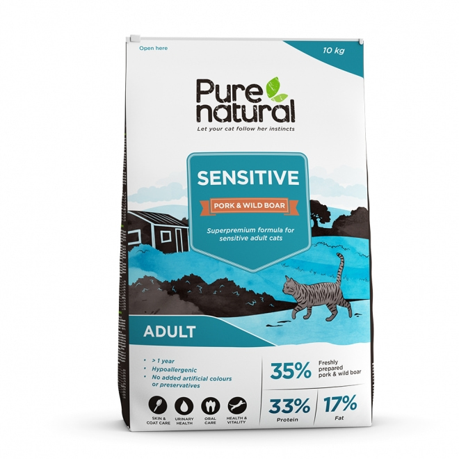 Purenatural Cat Adult Sensitive Pork & Wild Boar (10 kg)