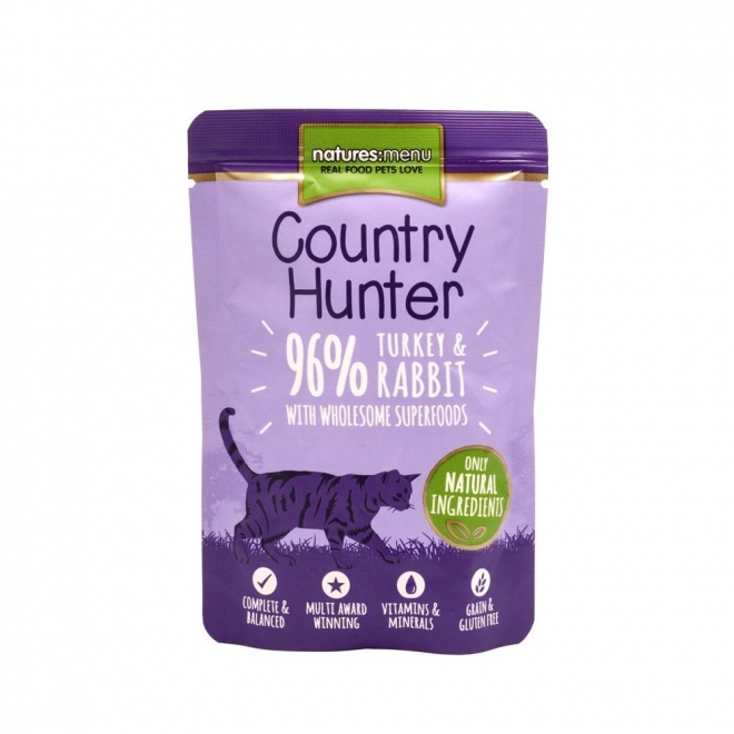 Natures:menu Country Hunter Cat Turkey & Rabbit 85 g
