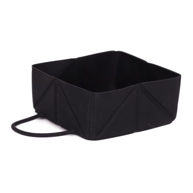 L&B Fold matkakuppi silikoni Black