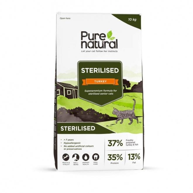 Purenatural Cat Senior Sterilised Turkey (10 kg)