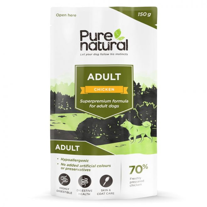Purenatural Dog Adult Chicken 150 g