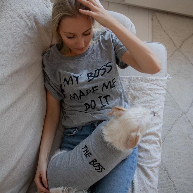 Little&Bigger paita lemmikille harmaa