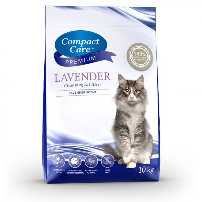 Compact Care Premium Lavender kissanhiekka 10kg (10 kg)**