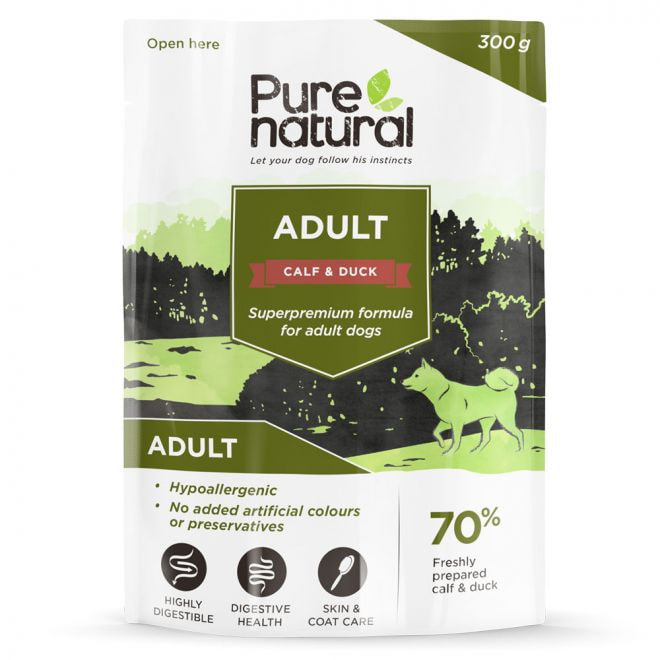 Purenatural Dog Adult Calf & Duck 300 g