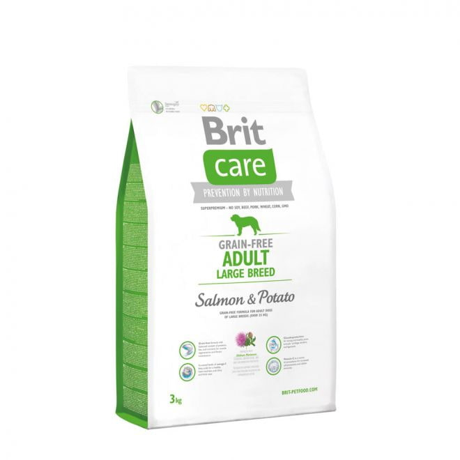 Brit Care Grain-Free Adult Large Breed Salmon & Potato (3 kg)