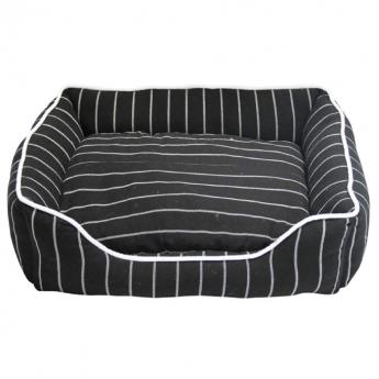 Little&Bigger Stripes Hundeseng Svart