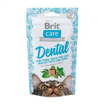Brit Care Cat Snack Dental 50 g (50 gram)