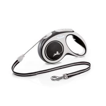 Flexi New Comfort Cord Medium 5 med lina/20 kg (Svart)