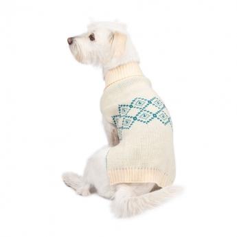 Basic Highland Hundegenser Hvit/Petrol