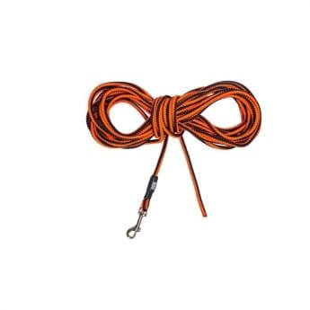Pro Dog Rope Treningsline svart/oransj