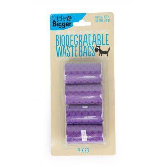 Little & Bigger hundepose nedbrytbar 4x20 violett