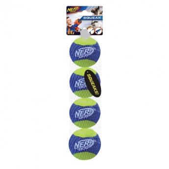 NERF Dog AirTuff Squeak Baller 4-pack