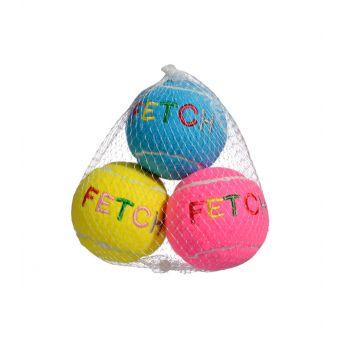 Chomper Neon Fleece ball med pipelyd 3 stk