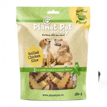 Planet Pet Society Grilled chicken slices 180g