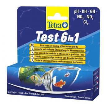 Tetra teststrimler 6-i-1