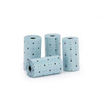 Little & Bigger hundepose nedbrytbar 4x20 polkadots (Blå)**