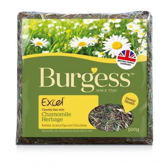 Burgess Excel Timotei-høy med kamille (500 gram)