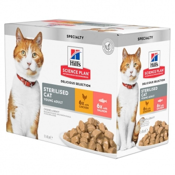 Hill's Sicence Plan Sterilised Cat Young Adult with Chicken & Salmon 12x85 g