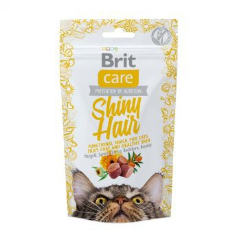 Brit Care Cat Snack Shiny Hair (50 gram)**