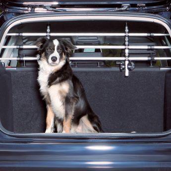 Trixie bil beskyttelsesnett sølv/svart