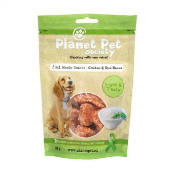 Planet Pet Society 2in1 kylling-risbein