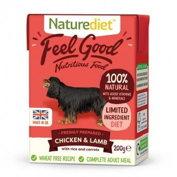 Naturediet Feel Good kylling & lam (200 g)