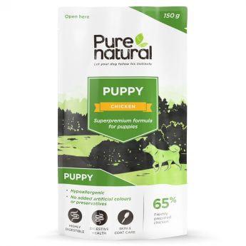 Purenatural Puppy Kylling med Ris våtfôr (150 gram)
