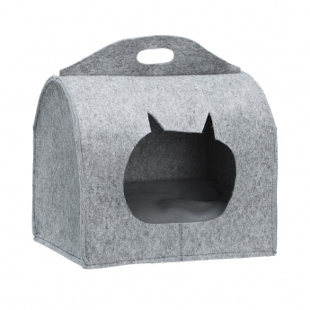 Little&Bigger CatCave Box Grå**