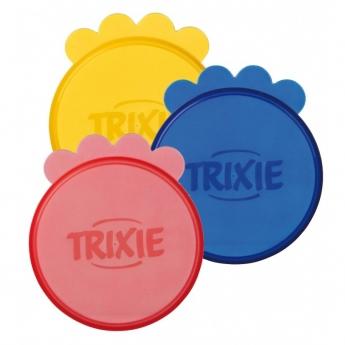 Trixie plastlokk for krukker, 7,6 cm, 3 stk.