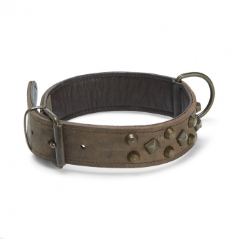 Feel Antique leather collar brun
