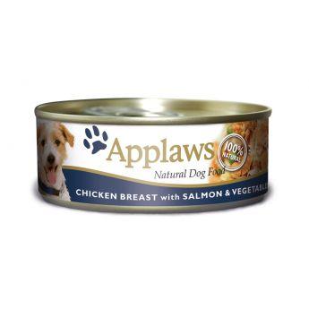 Applaws Dog kylling, laks og ris (156 gram)**