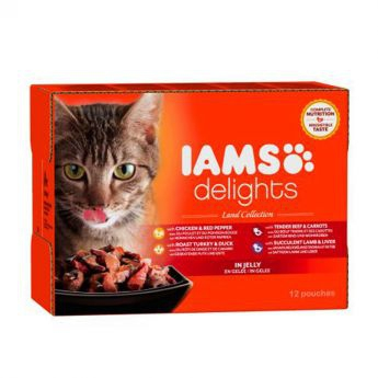 Iams Delights wet land collection Jelly - Multibox (12 x 85 g)
