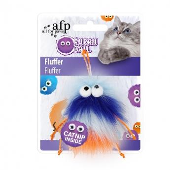 All For Paws Fluffer Ball Blå
