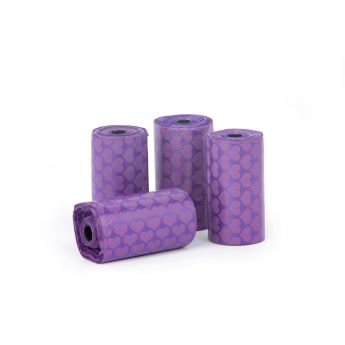 Little & Bigger hundepose nedbrytbar 4x20 violett**