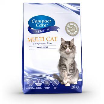 Compact Care Premium MultiCat kattesand (10 kg)**
