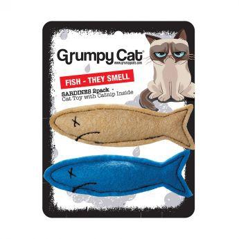 Grumpy Cat sardiner 2 stk (Flerfarget)