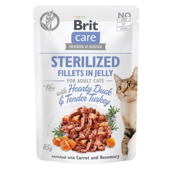 Brit Care Cat Jelly Sterilized and & kalkun 85g