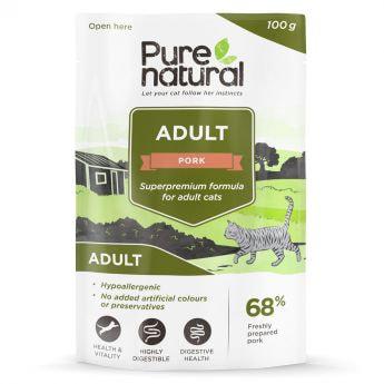 Purenatural Adult Svinekjøtt våtfôr til katter