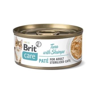 Brit Care Cat Paté Sterilized tunfisk & reke 70 g