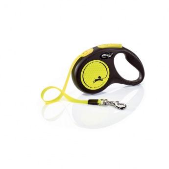 Flexi New Neon Small 5 m bånd/15 kg (Gul)