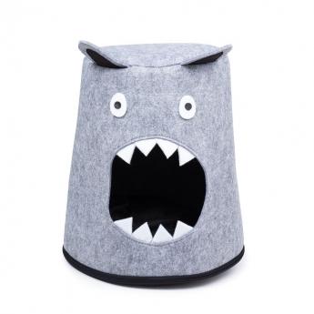 Little&Bigger Cat Cave Monster Seng Lysegrå