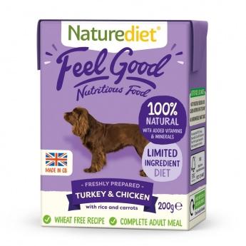 Naturediet Feel Good kalkun & kylling (200 g)