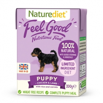 Naturediet Feel Good Puppy kylling & lam (200 g)