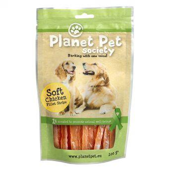 Planet Pet Society Kyllingstrips 100 g