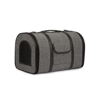 Basic Herring bone hard transportbag (Grå)