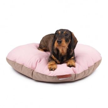 Gaia Ihkku round pillow Seng Rose/Taupe