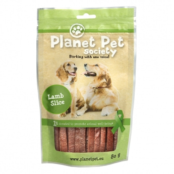Planet Pet Society Lamb Strips 80 gram
